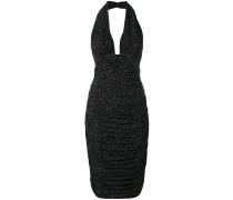 Neckholder-Kleid mit abstraktem Print