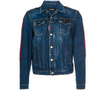 Jeansjacke mit Kontraststreifen