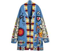 Wool Graphic Intarsia Cardigan