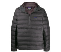 hooded down pullover