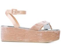 Sandalen mit Samtbesatz