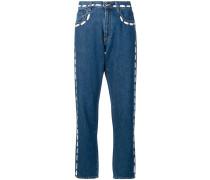 Jeans mit aufgemalten Nähten