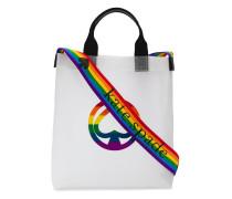 Handtasche mit Regenbogen-Streifen