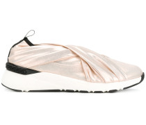 Slip-On-Sneakers in Metallic-Optik