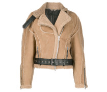 Cropped-Jacke aus Shearling