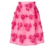 P.A.R.O.S.H. floral-embroidered skirt