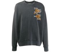 Besticktes Oversized-Sweatshirt