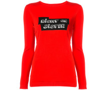 knitted slogan top