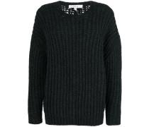 Pullover mit geripptem Design