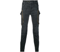 Skinny-Jeans mit Reißverschlusstaschen