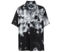 Kariertes Hemd mit Bleached-Effekt
