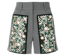 Shorts mit verzierten Patches