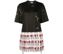 'Lipstick' Kleid mit Falten