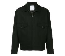 cutaway collar bomber jacket