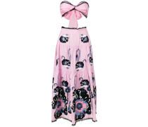 cut-out poppy print dress