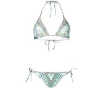multi-print bikini set