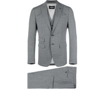 London three-piece checked suit