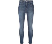 Skinny-Jeans mit Stone-Wash-Effect