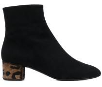 Stiefel mit Leopardenmuster-Details