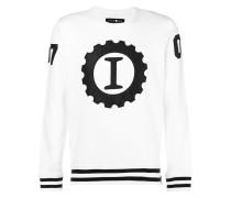 """Sweatshirt mit """"I""""-Stickerei"""