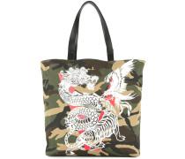 Shopper mit Drachen-Print