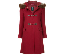 fur collar double breasted coat