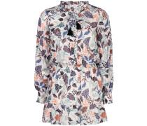 'Laura' Kleid mit Blatt-Print
