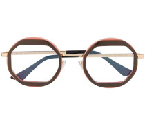 Runde Oversized-Brille
