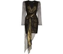 'Simone' Kleid im Metallic-Look