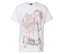 toy print perforated T-shirt