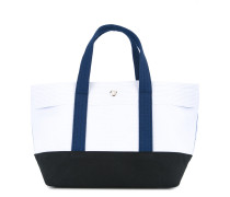 colour block small tote bag