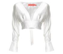 Cropped-Bluse mit tiefem Ausschnitt