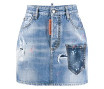 Jeansrock mit Muster