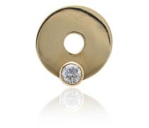 18kt Gelbgoldhalskette mit Diamanten