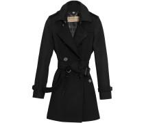 Doppelreihiger Mantel mit Gürtel