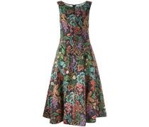 Knielanges Kleid mit Blumenmuster