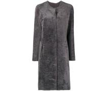 fur single breasted coat