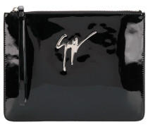 'Margery' Clutch aus Lackleder