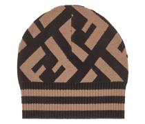 Mütze mit Intarsien-Logos