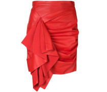 gathered ruffle trim skirt