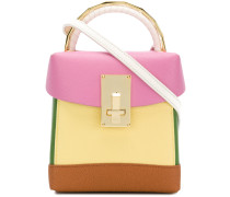 contrast panel handbag