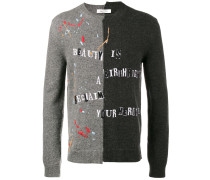 'Beauty Is A Birthright' Intarsien-Pullover