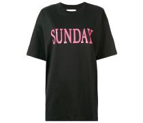 "T-Shirt mit ""Sunday""-Print"