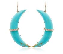 'Crescent' Ohrringe mit Diamanten