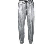 Jogginghose im Metallic-Look