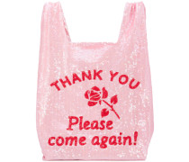 sequinned shopping tote bag