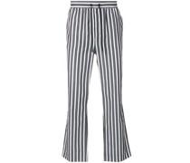 Ausgestellte Cropped-Hose mit Streifen