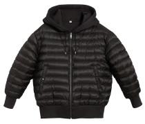 reversible hooded bomber jacket