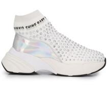 Sock-Sneakers mit Kristallen