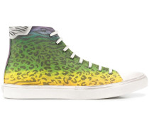 High-Top-Sneakers mit Leo-Print